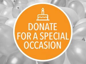 DONATE FOR A SPECIAL OCCASION